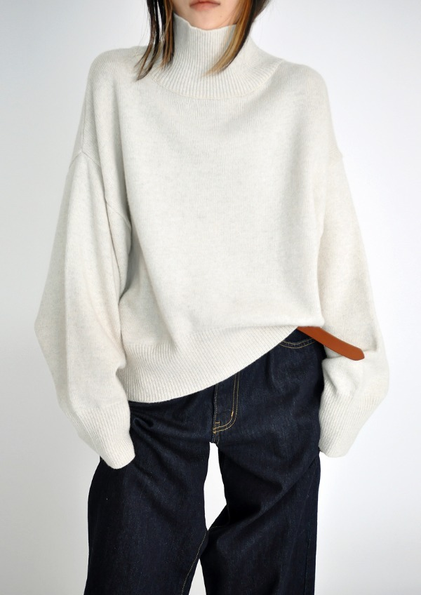 wool wide polar knit(3color)